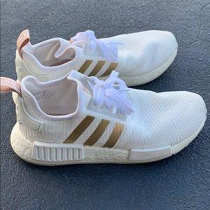Women white adidas boosts
